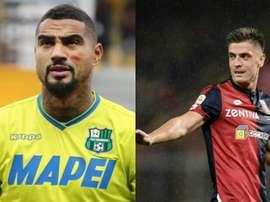 Boateng et Piatek ont rejoint le Barça et le Milan. EFE/AFP
