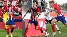 La mala fortuna en forma de lesión persigue a los delanteros centro del Atlético B. EFE/Atleti