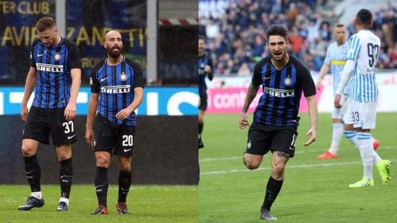 Borja Valero y Matteo Politano podrían abandonar el club. EFE