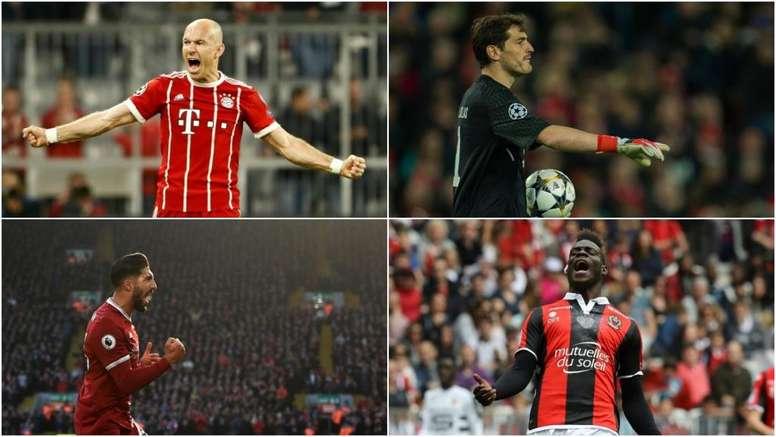 Casillas, Robben, Can et Balotelli n'ont toujours pas d'équipes. BeSoccer/EFE/AFP