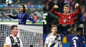 Quatro goleadores que irão revolucionar o mês de janeiro.  AFP/EFE