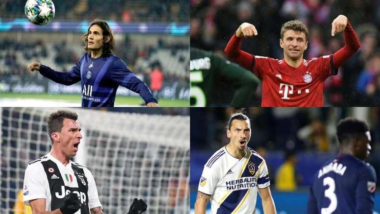 Cuatro goleadores que revolucionarán el mes de enero. AFP/EFE