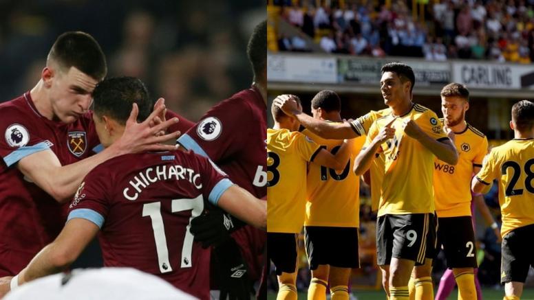Dos goleadores mexicanos en la Premier League. AFP/Wolves