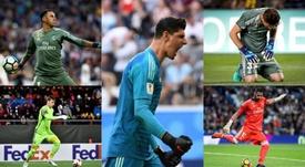 En el Real Madrid hay 'overbooking' de porteros. EFE/AFP