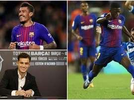 Coutinho, Paulinho et Dembélé, trois des joueurs les plus chers du club. BeSoccer