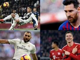 Ils ont tous marqué plus de 50 buts en C1. AFP/EFE