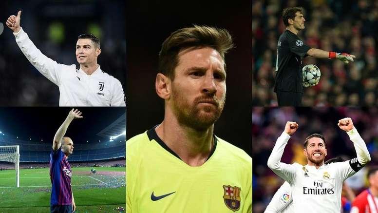 A escalação da FIFA com os melhores da década. Montaje/AFP/EFE