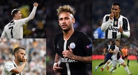 El XI de más de 600 millones de valor que formaría la Juve con Neymar. Montaje/EFE/AFP