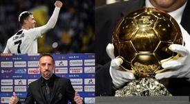 Cristiano, Ribéry y un Balón de Oro ¿robado? Montaje/AFP/Fiorentina