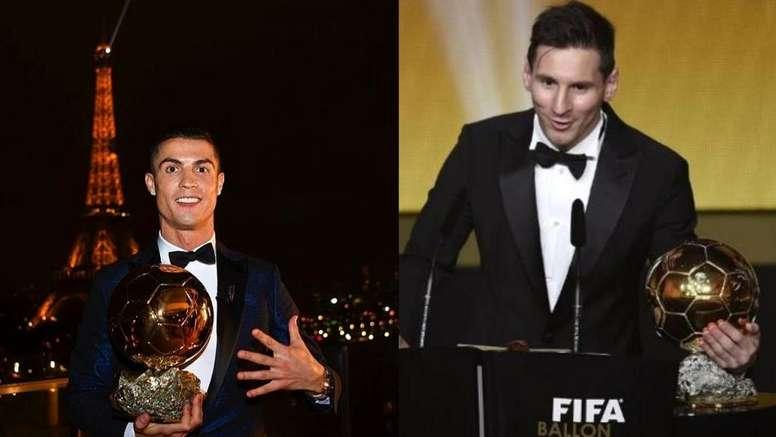 Real Madrid ou Barcelona, quem tem mais Bolas de Ouro. Montaje/AFP/EFE