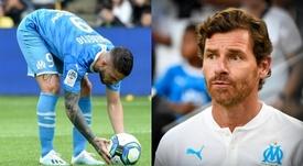 La 'rajada' de Villas-Boas a Benedetto por su penalti. Montaje/AFP