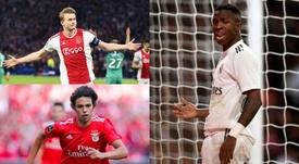 Os candidatos do ano a revelação do futebol. EFE/AFP