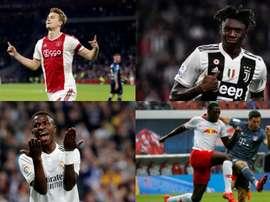 Os melhores jogadores Sub 20 do mundo para o L'Équipe. AFP/EFE
