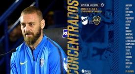 De Rossi no entra en la lista de Boca para jugar ante Defensa. Montaje/EFE/BocaJuniors