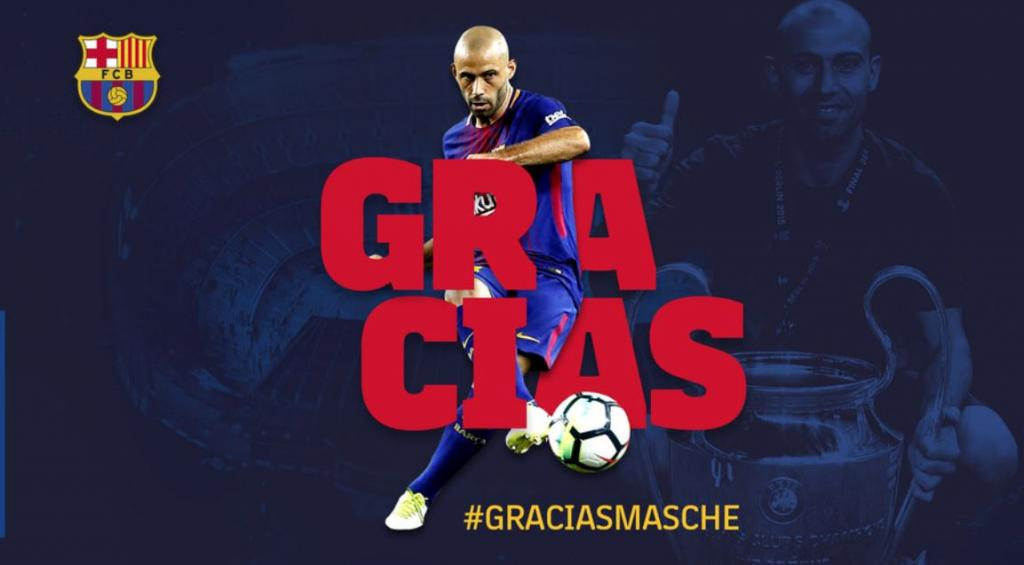 Mercato, le départ de Mascherano officialisé par le club — Barça