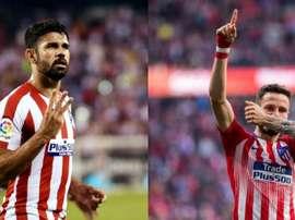 Diego Costa et Saul représentent à la perfection l'Atlético. EFE/AFP