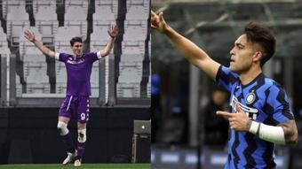 La Fiorentina se verá las caras con el Inter. AFP/EFE
