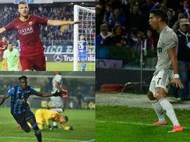 Os cinco jogadores mais rápidos do Campeonato Italiano. AFP/EFE