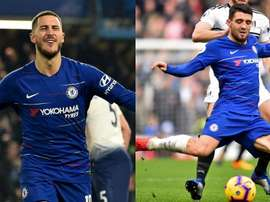 Eden Hazard and Mateo Kovacic's futures are both likely to be affected by the transfer ban. AFP