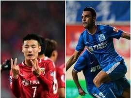 Wu Lei, con 14 goles, y Zahavi, con 13, son los máximos goleadores de la Liga China. BeSoccer