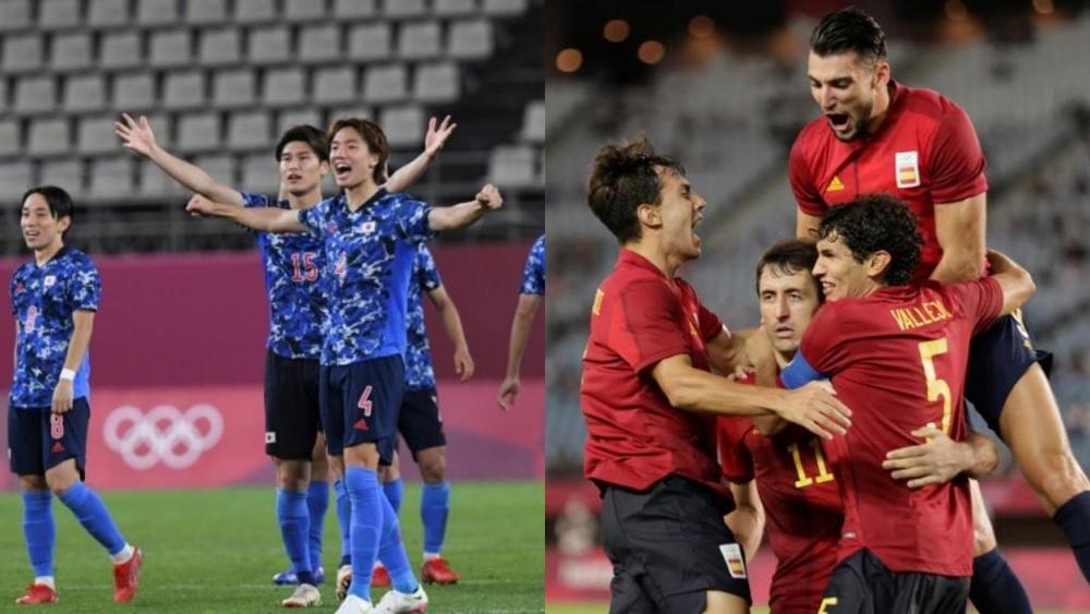 Posibles alineaciones del Japón-España. AFP/EFE