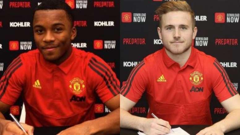 As duas últimas promessas que o United segurou. Montaje/ManchesterUnited