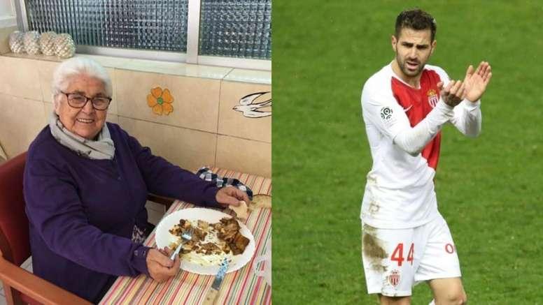Buenas noticias para Fàbregas: su bisabuela supera el coronavirus. Instagram/EFE