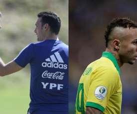 Foyth (Argentina) e Everton (Brasil) tornaram-se titulares. Montagem/EFE