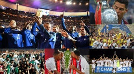 El fútbol completa su mapa: cinco príncipes y un rey. Montaje/AFP/EFE