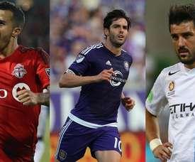 Collage de Giovinco, Kaká et Villa. BeSoccer