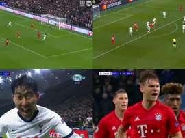 Début de match de folie entre Tottenham et le Bayern. Captura/FoxSports