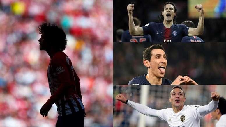 L'Atlético cerca una stella. Montaje/EFE/AFP