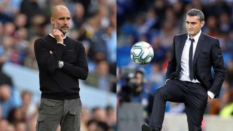 Guardiola et Valverde présentent des statistiques similaires. Montage/EFE/AFP