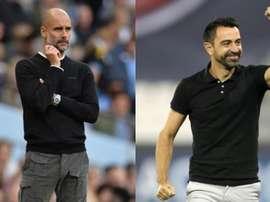Guardiola e Xavi, rumo ao PSG? EFE/AFP