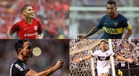 Guerrero, Tévez, Oliveira y Santa Cruz. Montaje/EFE