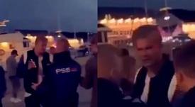 Haaland é expulso de boate por seguranças. Captura/@FutbolBible