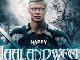 Happy Haalandween! Twitter/ErlingHaaland