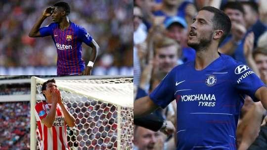 Hazard, Dembélé et Lozano ont brillamment commencé leur saison. AFP