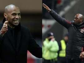 Henry y Vieira son dos leyendas del Arsenal. AFP