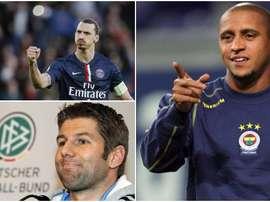 Collage de Hitzlsperger, Roberto Carlos et Ibrahimovic. BeSoccer