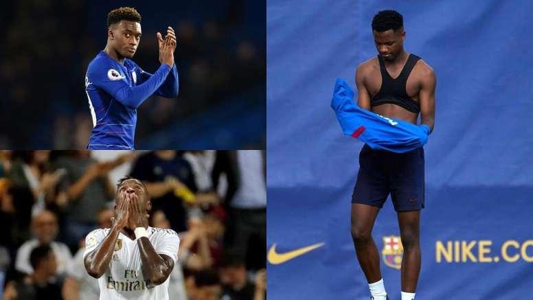 Los 12 jóvenes con más progresión en el Football Manager. Montaje/AFP/EFE