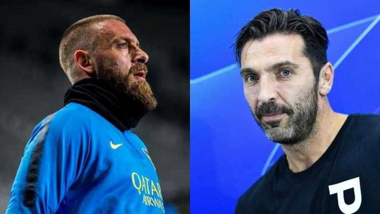 Italia no se olvida de De Rossi y Buffon. EFE/AFP