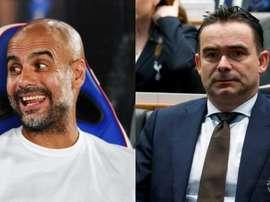 Le rêve de Milan : un duo Guardiola-Overmars. AFP/EFE