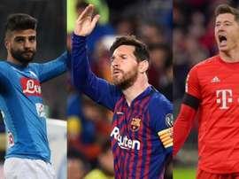 Les meilleurs attaquants de FIFA 20. EFE/AFP
