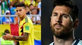 La cronología de la batalla entre James y Messi. AFP