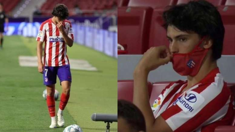 João Félix foi substituído aos 54 minutos contra o Mallorca. EFE/Captura/Movistar