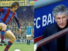Cruyff e Setién, unidos pelo Granada. EFE