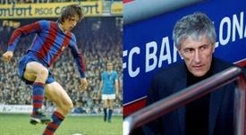 Cruyff y Setién, unidos por el Granada. EFE