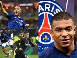 Mendy, Hazard, Jovic... and Mabppe too. Montage/AFP/EFE