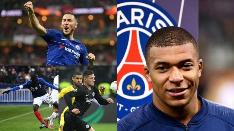 Mendy, Hazard, Jovic... y Mbappé. Montaje/EFE/AFP